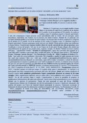 """Premio """"Giuseppe Antonio Borgese 2019"""" scadenza 20 dicembre 2018"""