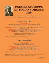 RISULTATI DEL PREMIO GIUSEPPE ANTONIO BORGESE 2019