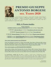 RISULTATI PREMIO GIUSEPPE ANTONIO BORGESE sez. Teatro 2020