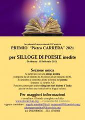 """Premio """"Pietro Carrera"""" per la silloge inedita 2021"""