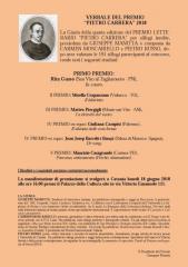 """Risultati del premio letterario """"Pietro Carrera"""""""